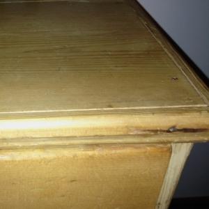 New top on antique pine dresser