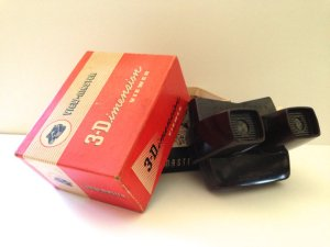 1955 3-D Viewmaster in original box with slides.Janvier Road, Etsy