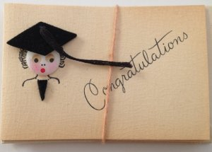 Betty Button graduation greeting cards. Photo courtesy of HolidayKitschklatsch, Etsy