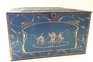 Hinged Dancing Nymphs Globe Soap Tin, 1920s