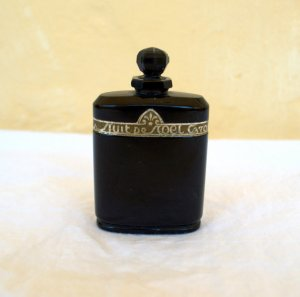 "Vintage Baccarat bottle of ""Nuit de Noel,"" circa 1930s. Photo courtesy of SeppScholl, Etsy"