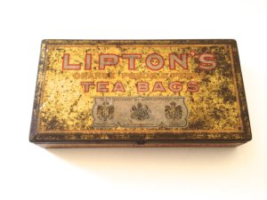 Lipton Tea Bag tin, circa 1915