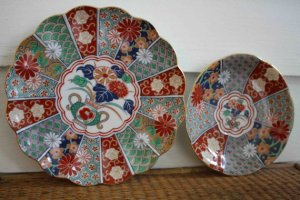 Vintage reproduction Imari plates, made in Arita