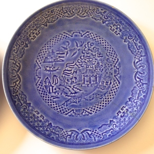Embossed Blue Willow from Paden City Pottery, 1914 - 1953