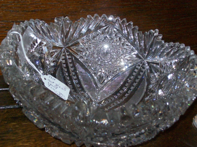 "9"" Star Pattern American Brilliant Bowl Photo courtesy of Treehouse Antiques"
