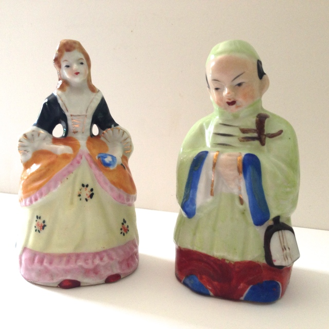 Japanese Figurine Bells, Circa 1930s