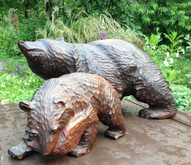 """Black Forest"" bear carvings, 1930s or 1940s"