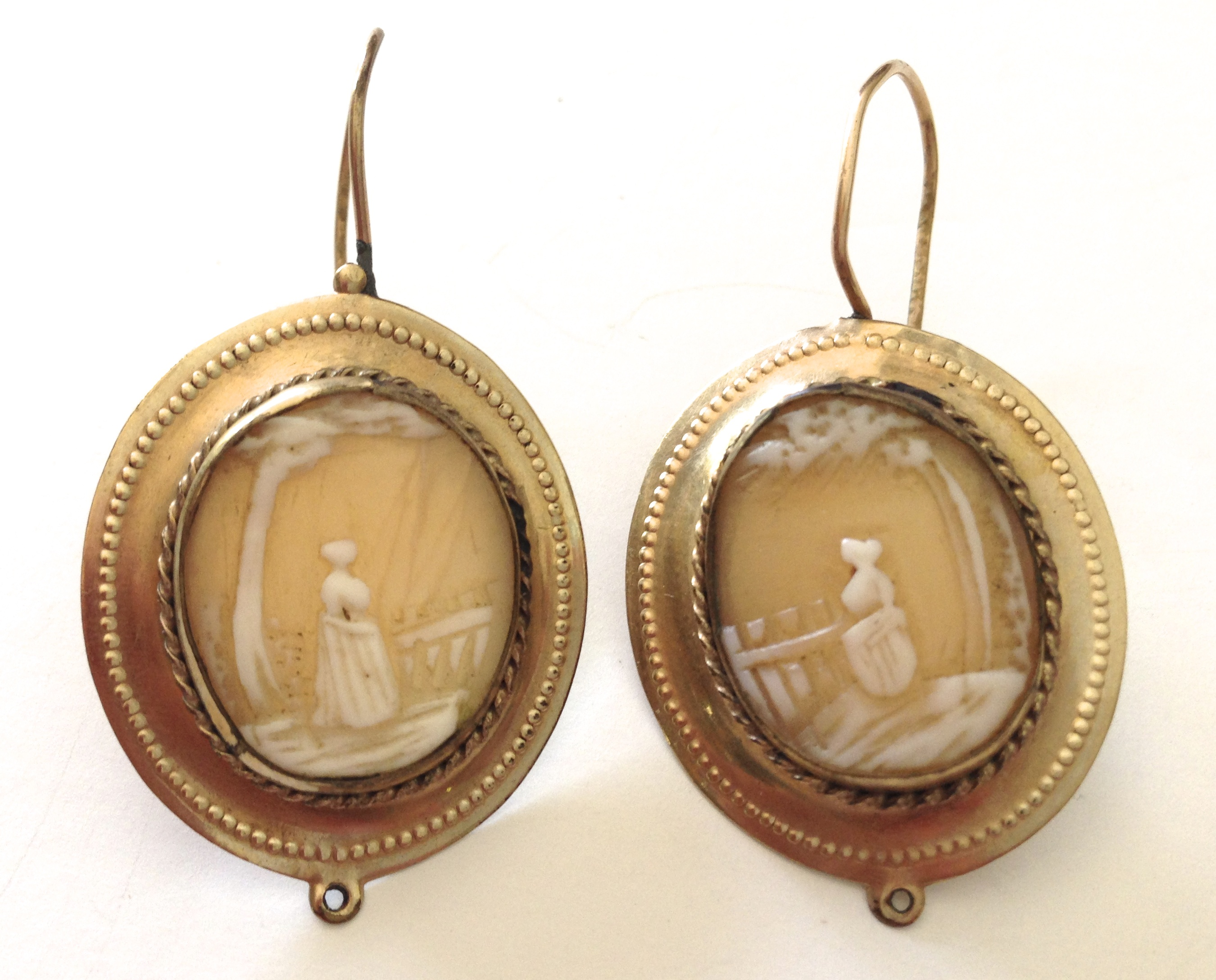 Cameo appearance how to tell if yours is vintage janvier road victorian landscape or scenic cameo earrings circa late 19th century to mozeypictures Images