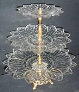 """Federal """"Petal"""" 3-Tiered Tidbit Tray. Photo courtesy of Books Shop, Etsy"""