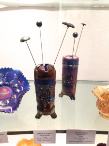 Carnival Glass Hatpin Holders