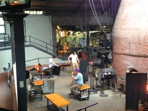 Glassblowing demonstration at Wheaton Village