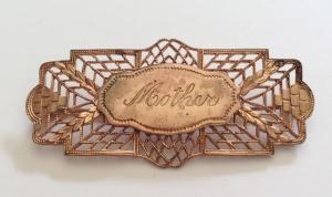 "Typical ""Sweetheart"" jewelry-style pin, World War II."