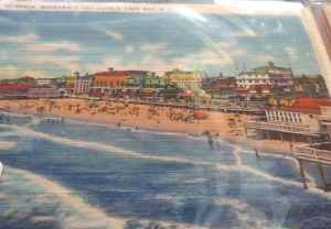 Postcard of Cape May, NJ. Photo courtesy of Treehouse Antiques, Cape May.