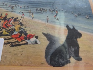Detail of beach scene postcard. Photo courtesy of Treehouse Antiques, Cape May, NJ