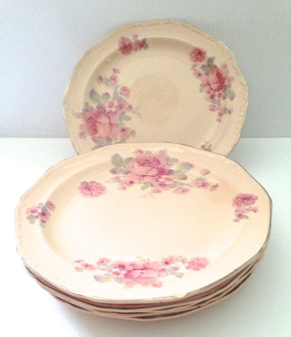 Alice Annglow plates by Edwin M. Knowles China Co. 1931