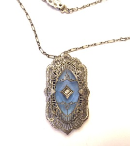Esemco camphor glass necklace, circa 1920
