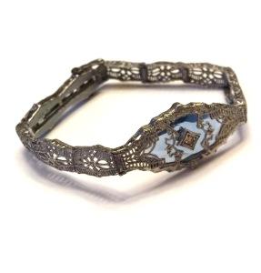 Esemco camphor glass bracelet, circa 1920